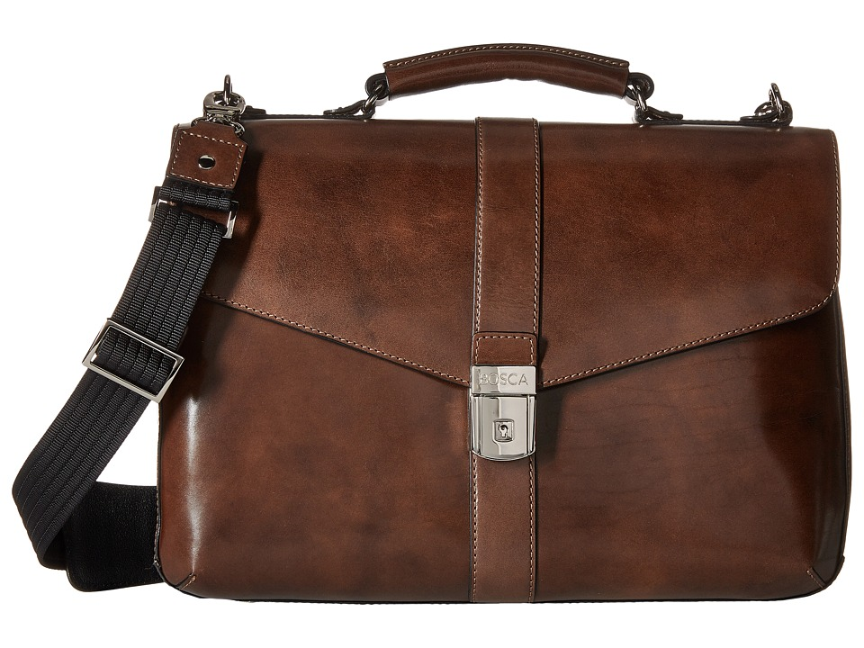 Bosca - Old Leather Collection - Flapover Brief (Teak) Briefcase Bags