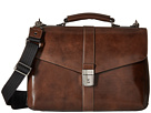 Bosca Old Leather Collection Flapover Brief (Teak)