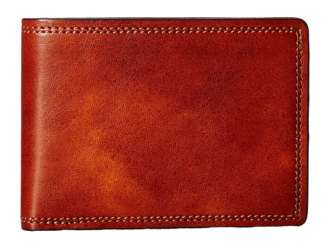 Bosca Dolce Collection - Small Bifold Wallet - Amber