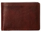 Bosca Dolce Collection Small Bifold Wallet (Dark Brown)