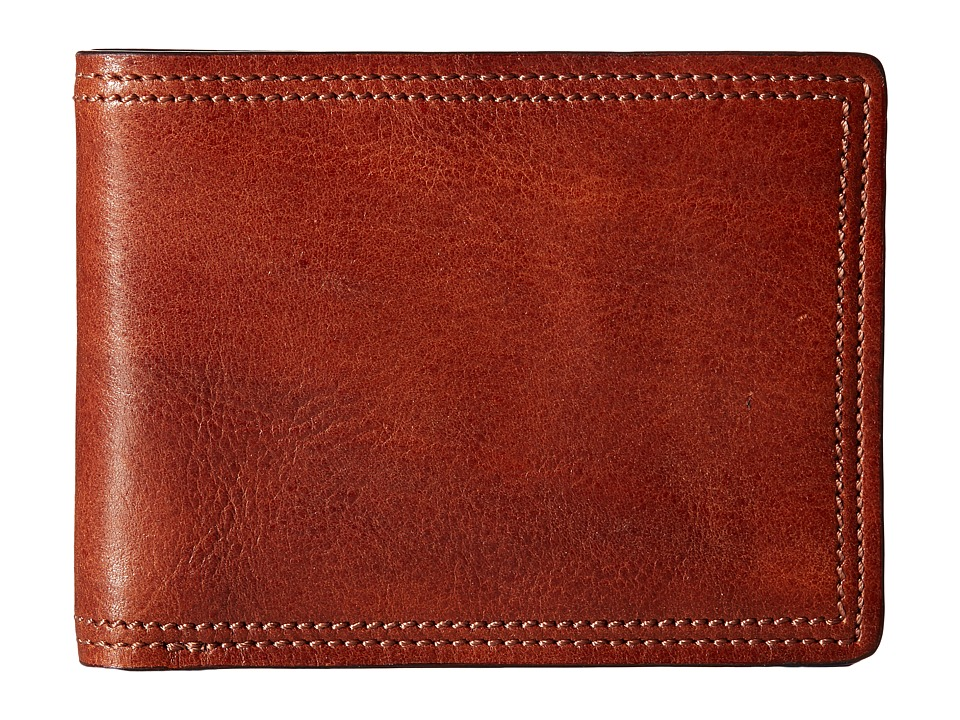Bosca - Dolce Collection - 8-Pocket Deluxe Executive Wallet (Amber) Wallet Handbags