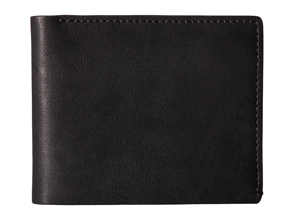 Bosca - Washed Collection - 8-Pocket Deluxe Executive Wallet (Black) Wallet Handbags