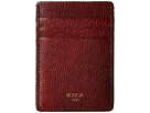 Bosca Washed Collection Deluxe Front Pocket Wallet (Dark Brown)