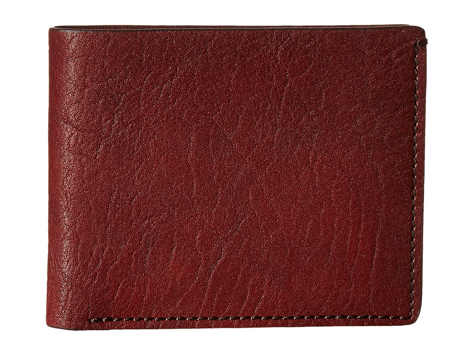 Bosca - Washed Collection - 8-Pocket Deluxe Executive Wallet (Dark Brown) Wallet Handbags