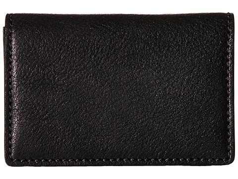 Bosca Washed Collection - Full Gusset Card Case - Black
