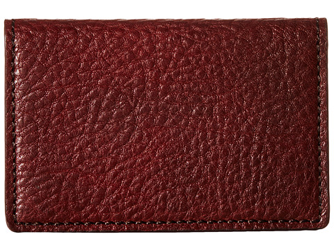 Bosca Washed Collection - Full Gusset Card Case - Dark Brown