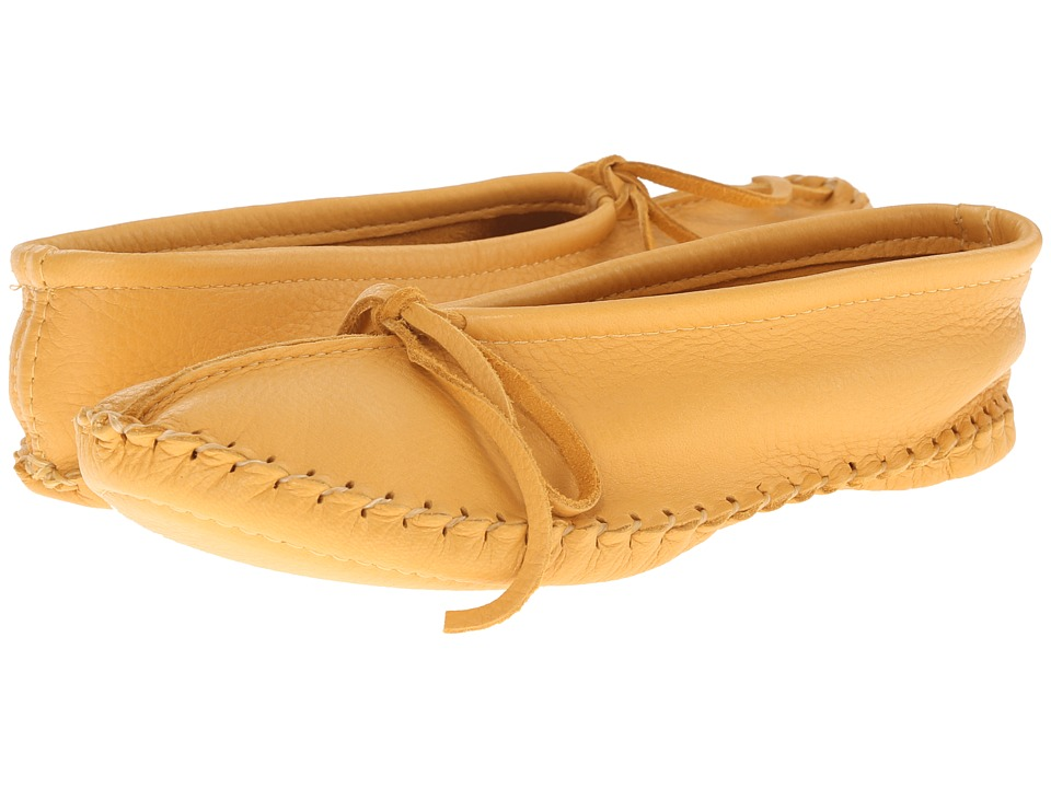 Manitobah Mukluks Deerskin Slipper Solid Design Tan Womens Slippers