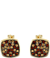 LAUREN by Ralph Lauren - Pave Cushion Clip Earrings