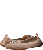 Yosi Samra - Orly Kid Suede Loafer with Rhinestone Embellishment