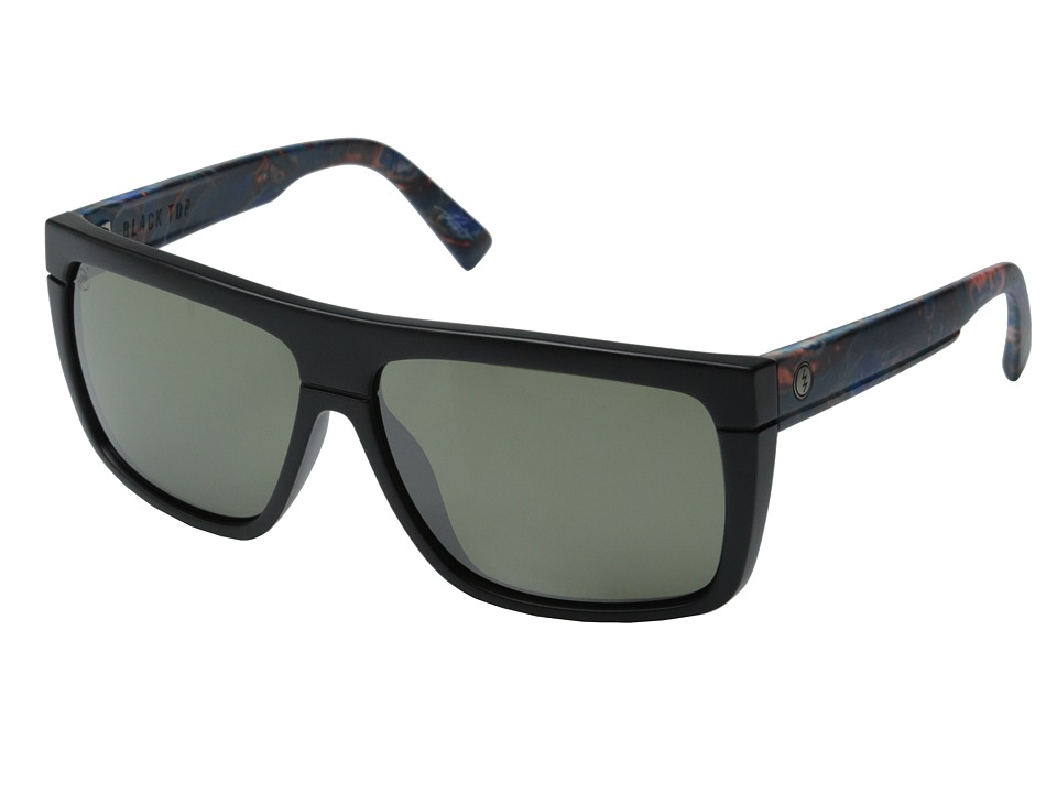 Electric Eyewear Blacktop Midnight Oil/Melanin Grey Silver Chrome Sport Sunglasses