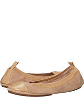 Yosi Samra - Samantha Kid Suede Fold Up Flat with Patent Captoe
