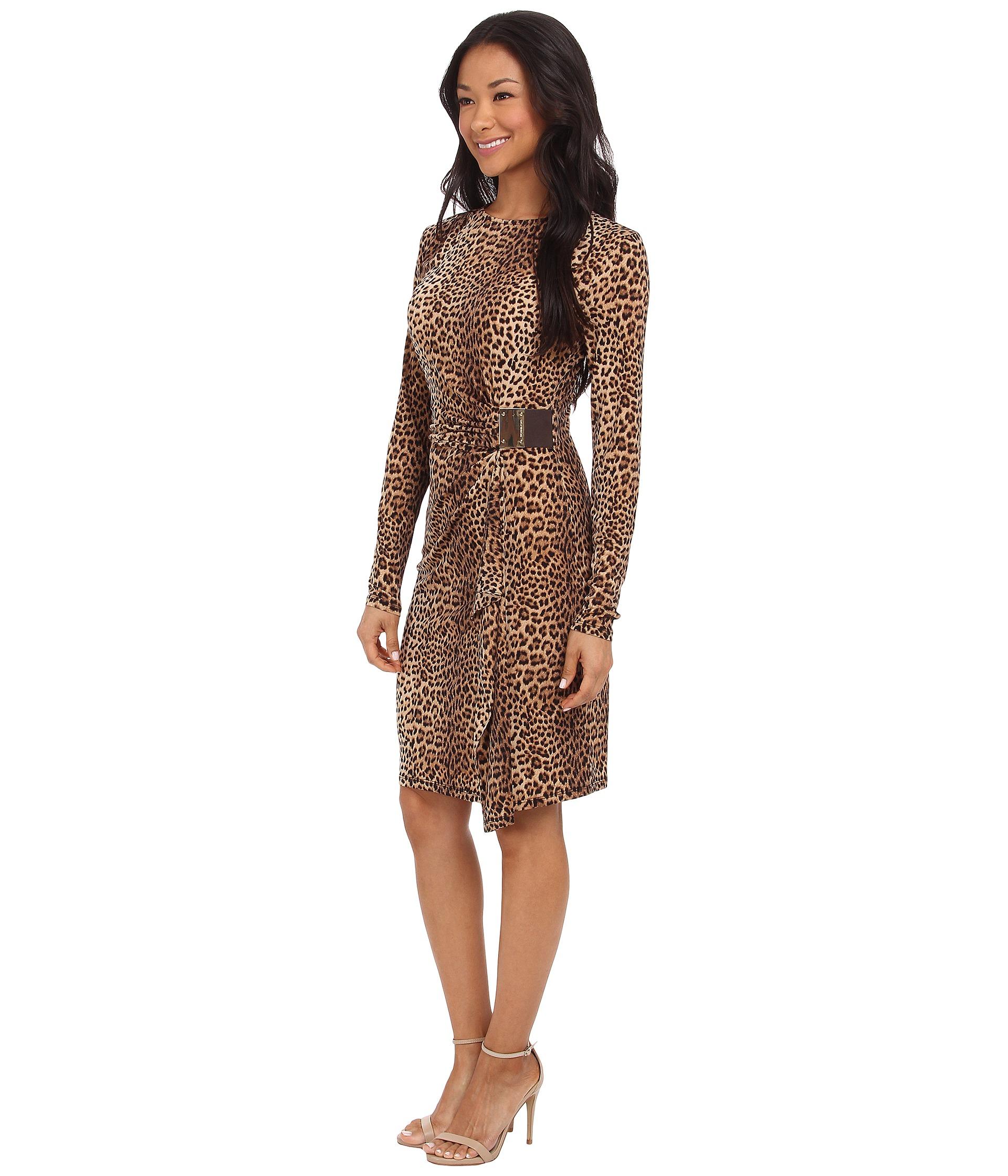 michael michael kors leopard logo plate dress