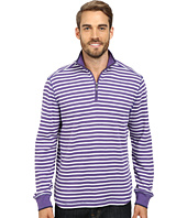 Robert Graham - Windjammer Long Sleeve Stripe Zip Mock