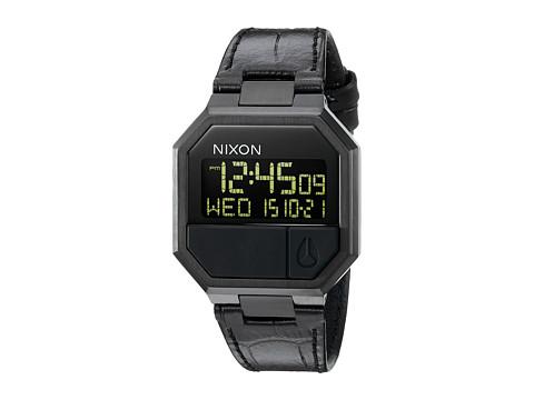 Nixon Re-Run Leather - Black Croc