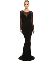 KAMALIKULTURE by Norma Kamali - Long Sleeve Fishtail Gown