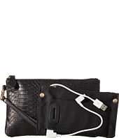 Mighty Purse - Stamped Cow Leather Charging Wristlet