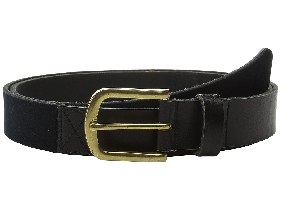 Scotch amp Soda Two Tone Mixed Leather Suede Belt Black Mens Belts