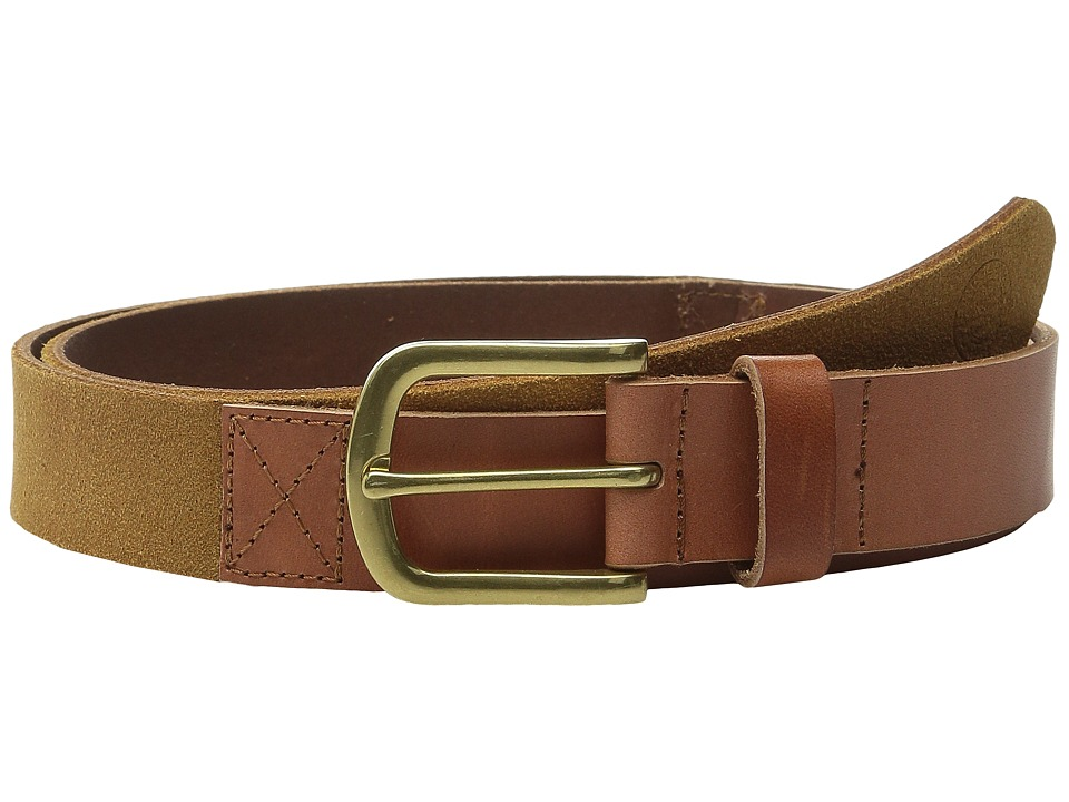 Scotch amp Soda Two Tone Mixed Leather Suede Belt Brown Mens Belts
