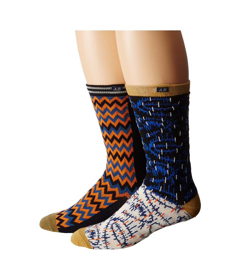 Scotch amp Soda 2 Pack All Over Patterned Socks Multi Mens Crew Cut Socks Shoes