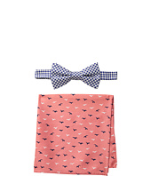 Tommy Hilfiger - Seagull Gingham Bowtie & Pocket Square Set