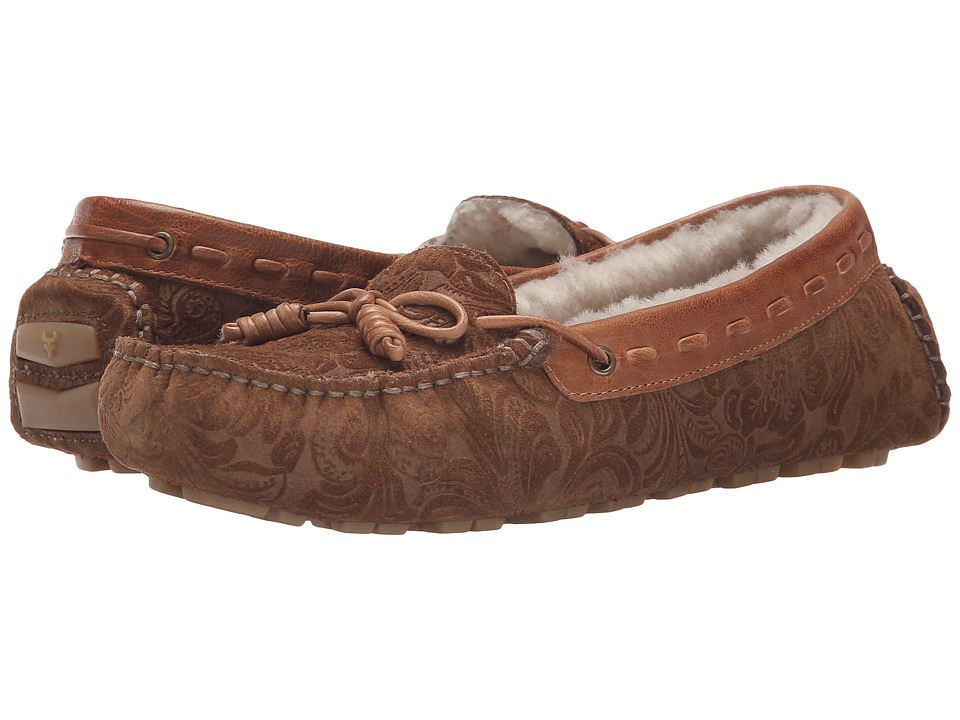 Trask Sophie Shearling (Whiskey Tooled Suede) Women