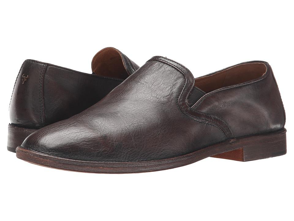 Trask Ali Dark Brown Italian Brush Off Calf Womens Shoes