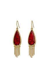 The Sak - Stone Fringe Teardrop Earrings