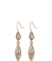 The Sak - Small Pave Leaf Earrings