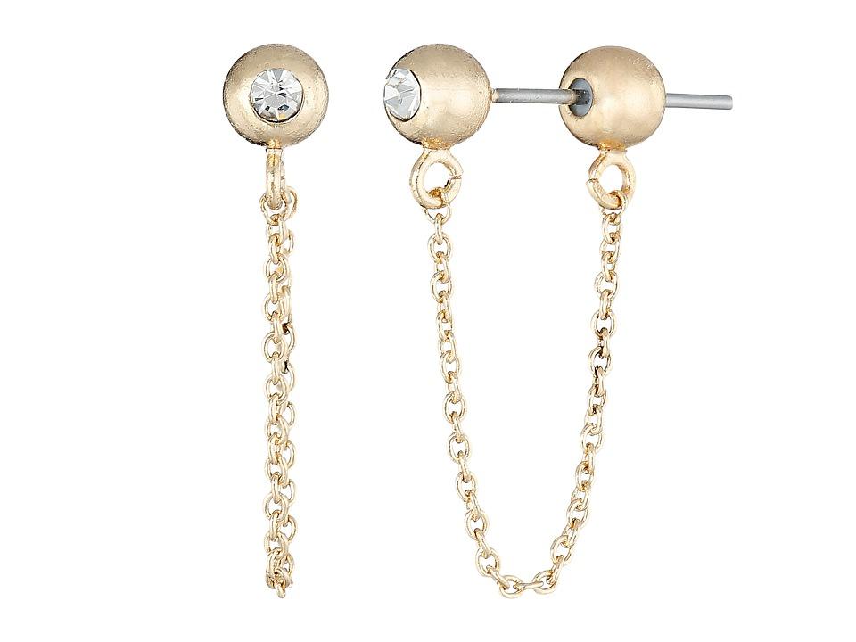 Sam Edelman Ball Chain Bar Earrings Gold Earring