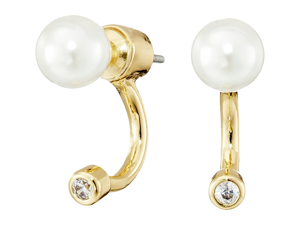 Sam Edelman Ashley Floater Earrings White Pearl/Gold Earring