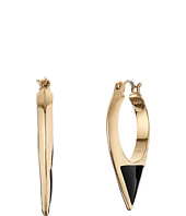 Sam Edelman - Enamel Inlay Hoop Earrings