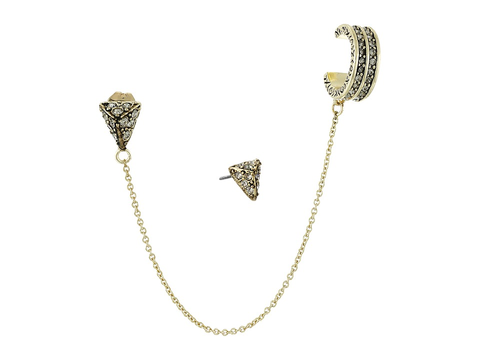 House of Harlow 1960 Adorned Earrings Set Gold Earring