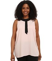 Vince Camuto Plus - Plus Size Sleeveless Collared Blouse