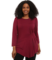 Vince Camuto Plus - Plus Size 3/4 Sleeve Side Ruched Top