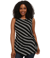 Vince Camuto Plus - Plus Size Decker Stripe Side Ruched Top