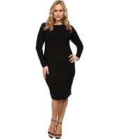 Vince Camuto Plus - Plus Size Midi Dress w/ All Over Heat Set Embellishment