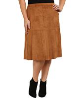 Vince Camuto Plus - Plus Size Faux Suede Midi Skirt