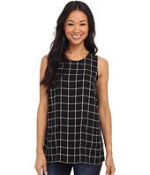 Vince Camuto - Simple Windowpane Front Pocket Blouse