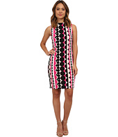 Vince Camuto - Retro Dots Mock Neck Scuba Dress