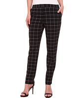 Vince Camuto - Front Zip Windowpane Pants