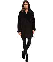 French Connection - Cocoon Shearling Zip Front Coat