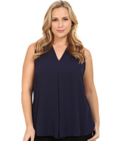 Vince Camuto Plus - Plus Size Blouse w/ Inverted Front Pleat