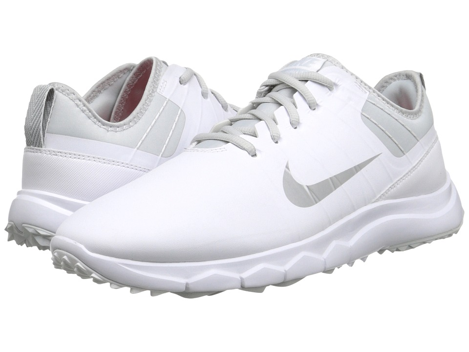 Nike Golf FI Impact 2 (White/Pure Platinum/Bright Crimson/Metallic Silver) Women