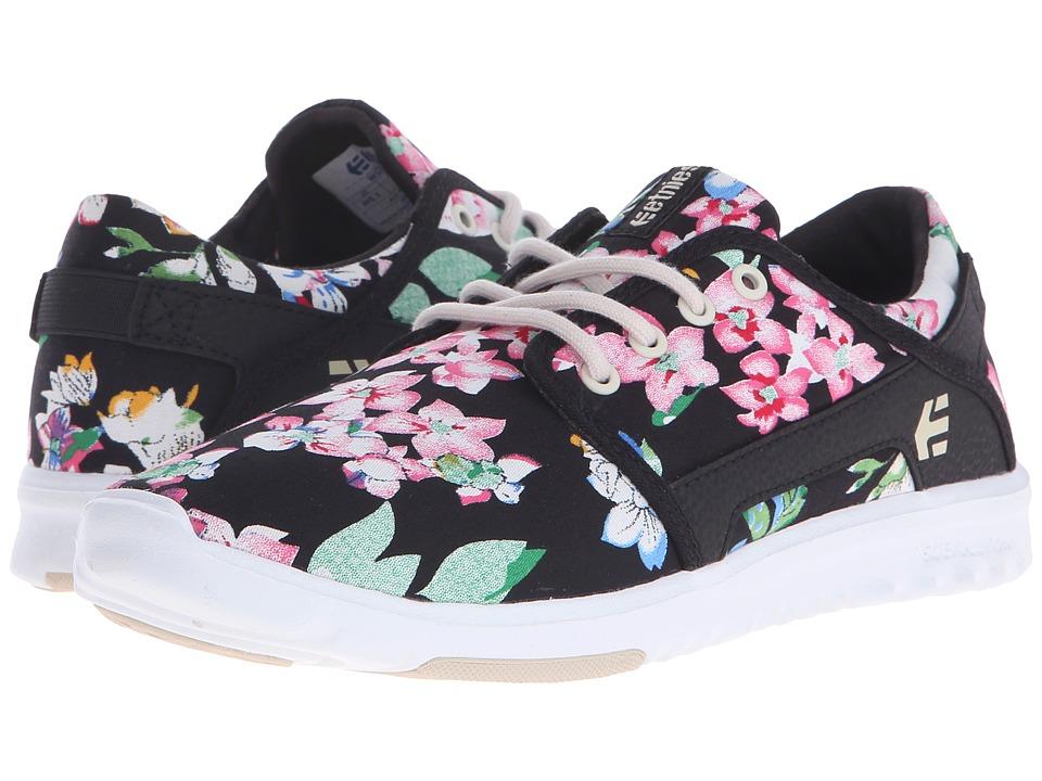 etnies Scout W Black/Floral Womens Skate Shoes