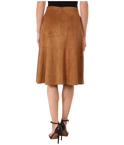 vince camuto faux suede midi skirt 6pm