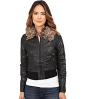 dollhouse - Zip Front Bomber Jacket w/ Det Faux Fur Collar