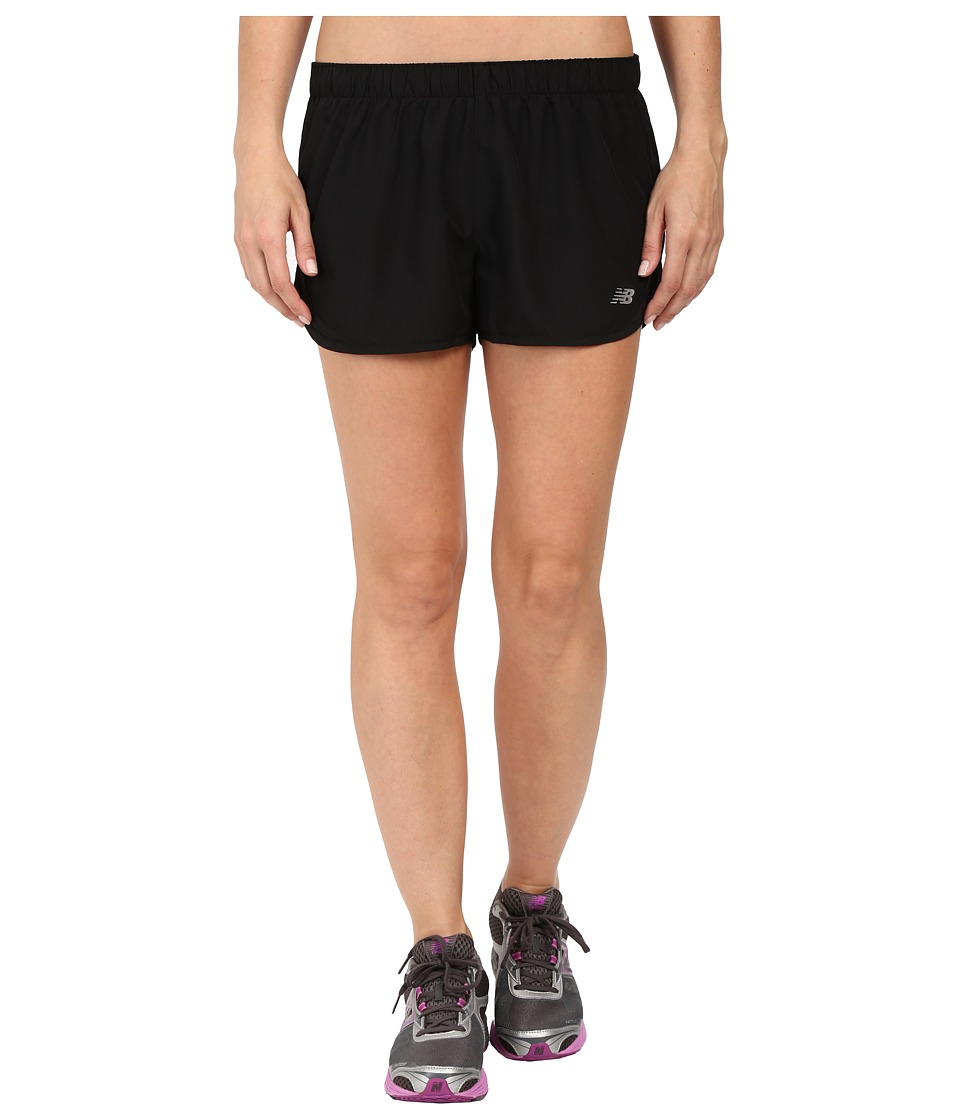 New Balance Accelerate 2.5 Short Black Womens Shorts