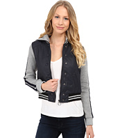 dollhouse - Zip Front Baseball Jacket w/ Racing Stripe Sleeves