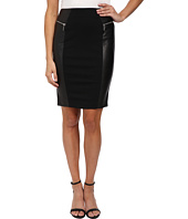 MICHAEL Michael Kors - Leather Ponte Skirt
