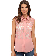 Anne Klein - Floral Lace Combo Shell Shirt